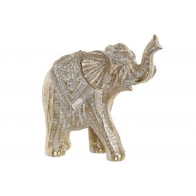 FIGURE RESIN 30,5X13X30,5 ELEPHANT GOLDEN