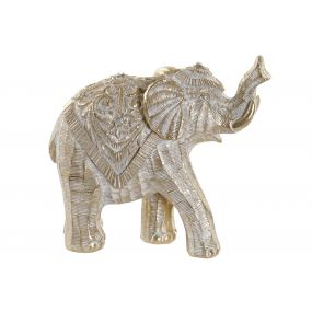 FIGURE RESIN 17X7,5X15 ELEPHANT AGED GOLDEN