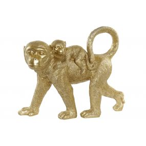FIGURE RESIN 48X14X39 MONKEYS GOLDEN