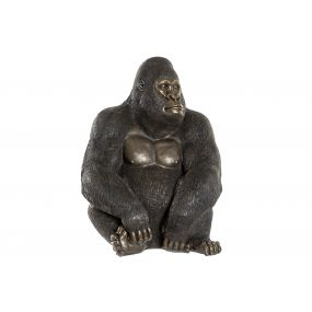 FIGURE RESIN 43X40X60 GORILLA BLACK