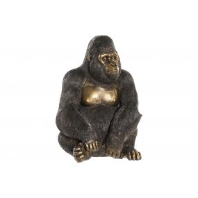 FIGURE RESIN 27X23X40 GORILLA BLACK