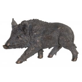 FIGURE RESIN 54X19X31 BOAR GREY