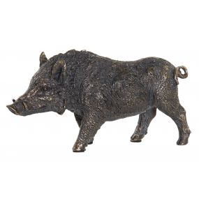 FIGURE RESIN 25X7X13 BOAR GREY