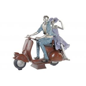 FIGURE RESIN 33X18X30 COUPLE RED