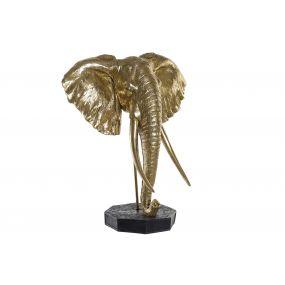 FIGURE RESIN METAL 60X36X73 ELEPHANT GOLDEN