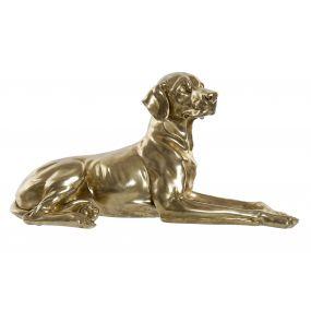 FIGURE RESIN 68X26X35 DOG GOLDEN