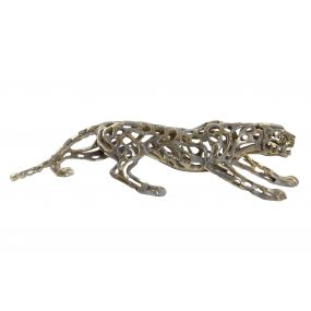 FIGURE RESIN 90X22X21 PANTHER AGED GOLDEN