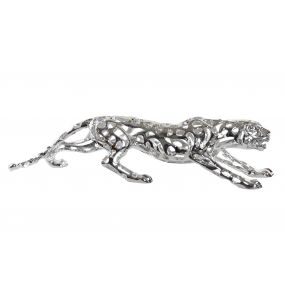 FIGURE RESIN 90X22X21 PANTHER SILVER