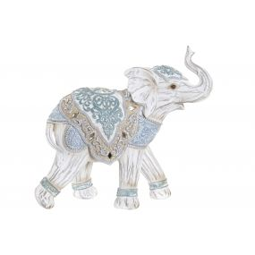 FIGURE RESIN 23X9X21 ELEPHANT WHITE