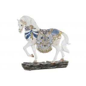 FIGURE RESIN 25X7X24 HORSE WHITE