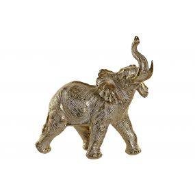 FIGURE RESIN 39,6X19,3X38 ELEPHANT GOLDEN