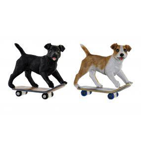 FIGURE RESIN 18,5X9,5X18 DOG SKATE 2 MOD.