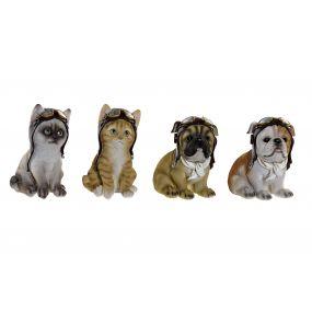 FIGURE RESIN 10X9,5X15,5 CAT DOG 4 MOD.
