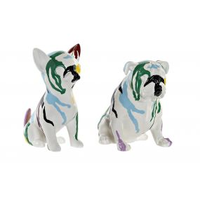 FIGURE RESIN 20X12,5X17,5 DOG LACQUERED 2 MOD.