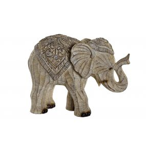 FIGURE RESIN 27,5X13X21 ELEPHANT WHITE