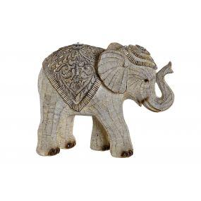 FIGURE RESIN 23,5X11X18,5 ELEPHANT WHITE
