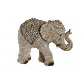 FIGURE RESIN 19X9X15 ELEPHANT WHITE