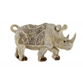 FIGURE RESIN 30X9X15,5 RHINO WHITE