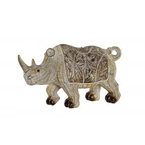 FIGURE RESIN 21,5X6,5X12 RHINO WHITE
