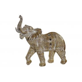 FIGURE RESIN 33,5X15,5X31,5 ELEPHANT WHITE