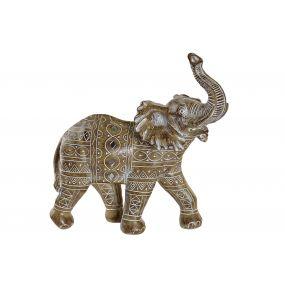 FIGURE RESIN 27,5X13X28,5 ELEPHANT WHITE