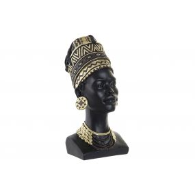 FIGURE RESIN 20X28X44 AFRICAN BLACK