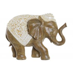 FIGURE RESIN 39,5X16X29 ELEPHANT BROWN