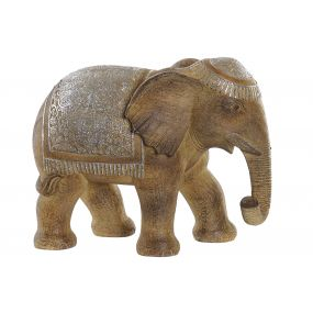 FIGURE RESIN 30,5X16X24,5 ELEPHANT BROWN