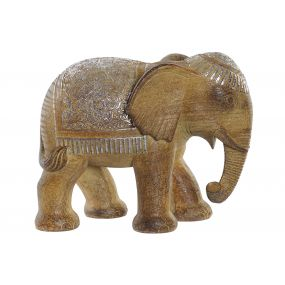 FIGURE RESIN 34,8X34,4X54,3 ELEPHANT BROWN