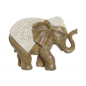 FIGURE RESIN 29X12X22,5 ELEPHANT BROWN