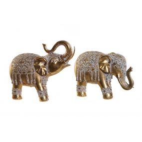 FIGURE RESIN 25X11X22 ELEPHANT AGED 2 MOD.