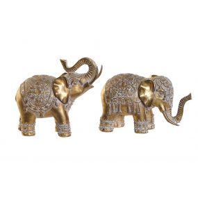 FIGURE RESIN 15X7X14 ELEPHANT AGED 2 MOD.