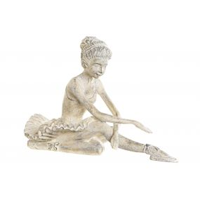 FIGURE RESIN 35X24X24 DANCER WHITE