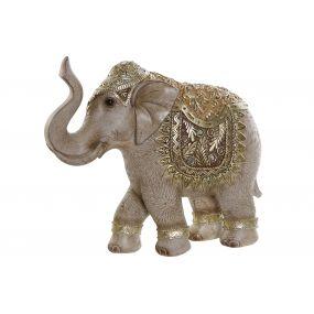 FIGURE RESIN MIRROR 23,5X7,5X21 ELEPHANT GOLDEN