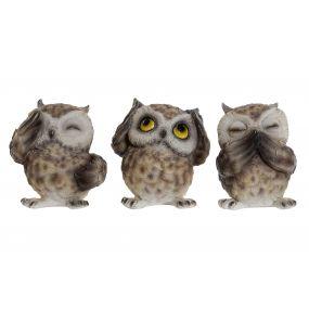 FIGURE RESIN 7,5X6X8 OWL 3 MOD.