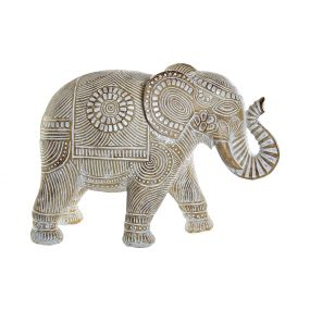 FIGURE RESIN 40,5X18X29 ELEPHANT DECAPE GOLDEN