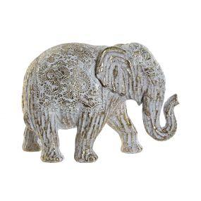 FIGURE RESIN 24,5X9,5X16,5 ELEPHANT DECAPE GOLDEN