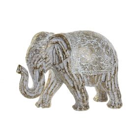 FIGURE RESIN 20X9X14 ELEPHANT DECAPE GOLDEN