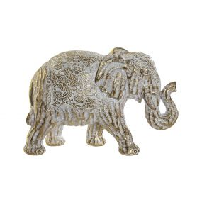 FIGURE RESIN 17X7,5X11,5 ELEPHANT DECAPE GOLDEN