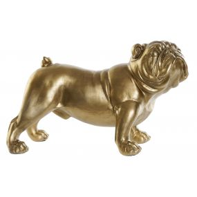 FIGURE RESIN 38X17X23 BULLDOG MATTE GOLDEN