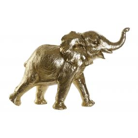 FIGURE RESIN 50X17X32 ELEPHANT GOLDEN