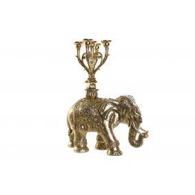 FIGURE RESIN 52X20X65 CANDELABRA ELEPHANT SPARKLY