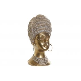 FIGURE RESIN 8,5X10X18 AFRICAN AGED GOLDEN