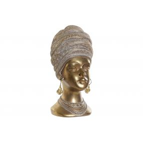 FIGURE RESIN 13,5X15,5X28 AFRICAN AGED GOLDEN