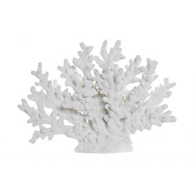 FIGURE RESIN 38X19X29 CORAL WHITE