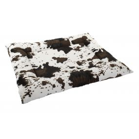 PET BED POLYESTER 90X68X7 COW BROWN