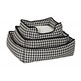 PET BED SET 3 LINEN 63,5X57,5X17 BLACK