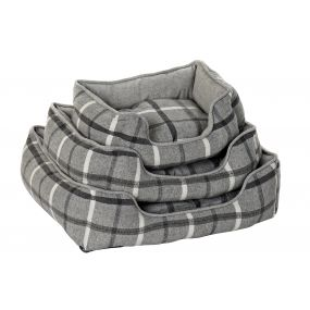 PET BED SET 3 COTTON 63,5X57,5X17 GREY
