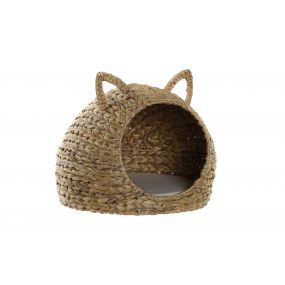 PET BED REED POLYESTER 42X33X38 ANIMAL NATURAL