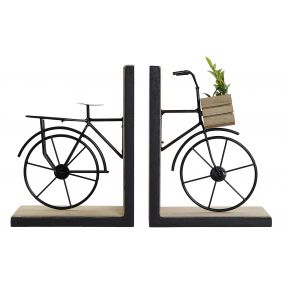 BOOKEND MDF 28X10X18,5 BICYCLE BEIGE